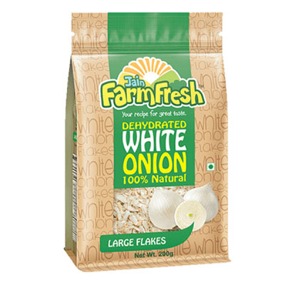 Dehydrated White Onion (Large Flakes) 200g